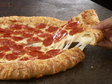 Small pic pizza hut triple cheese covered stuffed crust