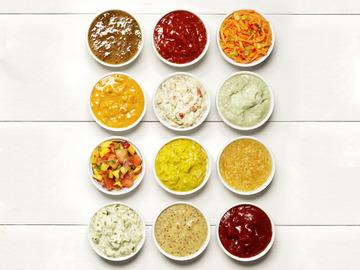 Small pic condiments