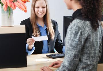 Small pic bank teller