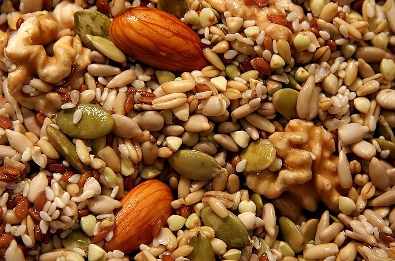 Sprouted nuts seeds