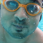 Square pic me swimming face